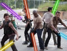 Walking Dead with lightsabers