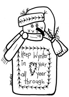 Free Winter Snowmen pattern