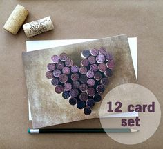 Cork Heart Wine Stationary