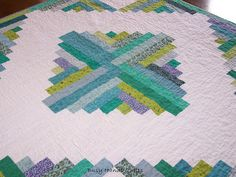 Busy Hands Quilts, Calm Serenity, Log Cabin, Lap Quilt. Pin Now and View Later!