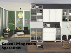 The Sims Resource: Caden livingroom by spacesims • Sims 4 Downloads