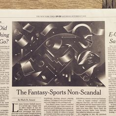 TODAY - you should get a copy of the New York Times! ✌️ Did this illustration about Fantasy Football. Art directed by the great Nathan Huang (he rocks!) / @huanglorious  HOY - En el New York Times podés encontrar esta ilus que hice acerca de Fantasy Football. Dirección de Arte por el gran Nathan Huang (capo). ⚡️