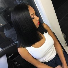 Ms Gloria Short Bob Lace Front Wigs Human Hair Straight Brazilian Virgin Natural Black Lace Wigs Pre Plucked Bleached Knots For Women whatsapp: 0086 17660680660 Weave Hairstyles, Straight Hairstyles, Girl Hairstyles, Fashion Hairstyles, Black Hairstyles, Blunt Cut Hairstyles, Long Bob Negras, Corte Long Bob, Coiffure Hair