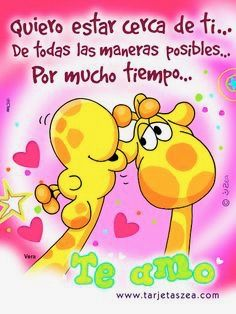 Zea girafas Marriage Couple, Marriage Prayer, Always Love You, I Love You, My Love, Miss You Babe, Quotes En Espanol, Spanish Quotes, Love Notes