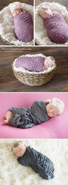 Newborn baby in basket photography ideas. #newbornphotography #babyinbasket #alwayselegantphotography Newborn Photography-Gardnerville, NV - Always Elegant Photography
