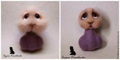 Как свалять зайчонка – хранителя цветов - Ярмарка Мастеров - ручная работа, handmade