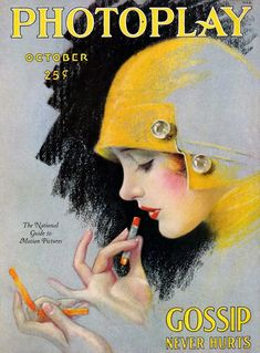 Photoplay magazine, October 1927. Cover art of Dolores Costello, by Charles Sheldon.