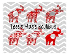 Aztec Monogram Elehpant, SVG, DXF, EPS, Instant Download, Digital Design, Circle Monogram by TessieMaesBoutique on Etsy