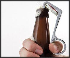 One Handed Bottle Opener