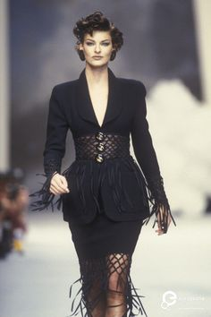 "allaboutchanel7: "" Linda Evangelista @ Chanel Couture   Spring/Summer 1992 """