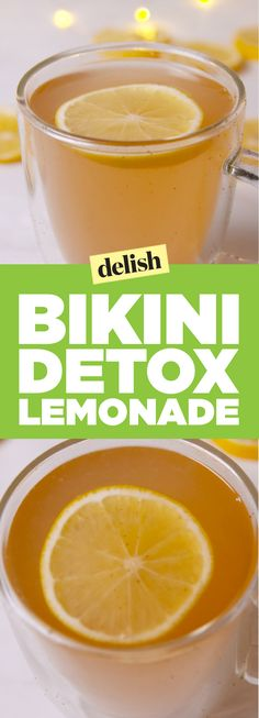Bikini detox lemonade is the perfect morning drink before a day at the beach. Get the recipe on Delish.com.