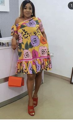 my prince house of the sleeping beauties - House Beautiful African Dresses For Kids, African Wear Dresses, Latest African Fashion Dresses, African Print Fashion, Africa Fashion, African Attire, Ankara Short Gown Styles, Short Gowns, Ankara Stil