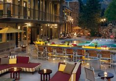 The Sky Hotel, Aspen - Super hip après ski/sun/shop scene at 39 Degrees is the ideal spot to mix and mingle after a day on the slopes.