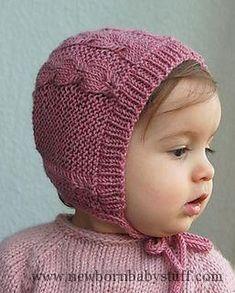 Crochet Baby Hats Silverfox Bonnet pattern by Lisa Chemery