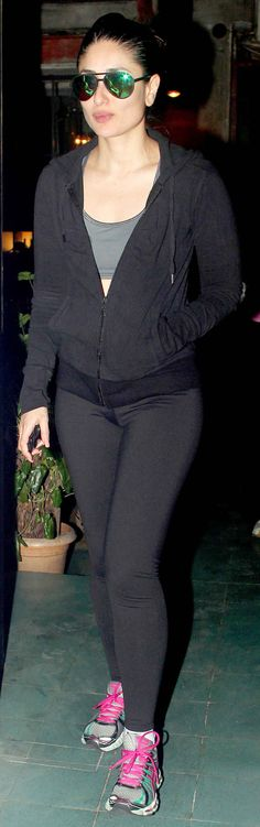 Kareena Kapoor Khan spotted outside a restaurant in Mumbai in yoga outfit