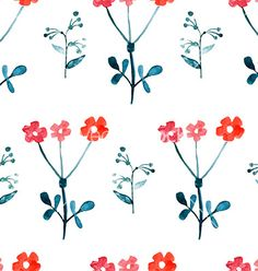 Watercolor seamless floral pattern vector by Favete on VectorStock®