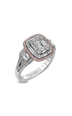 Buy Simon G Fashion ring at Trice Jewelers. As an authorized retailer, all of our Simon G products are backed with a manufacturer warranty. Pink Diamond Jewelry, Fashion Rings, Heart Ring, Mosaic, Fancy, Engagement Rings, Jewels, Stuff To Buy, Beautiful