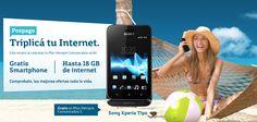 Llévate GRATIS un Sony Xperia Tipo en #SiempreComunicados 4! Triplica tu internet.