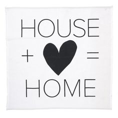 vtwonen Textiel Poster 50 x 50 cm - House + Love = Home - afbeelding 1