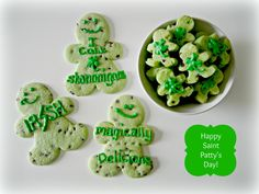 Mint Chocolate Chip Men Cookies for St Patty's Day!