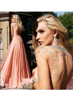 Sexy Criss Cross Halter Sheer Beaded Cap Sleeve Long Evening Gowns A-Line Backless Floor-Length Chiffon Prom Dresses