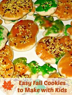 Easy Fall Cookies to Make With Kids |Planet Smarty Pants