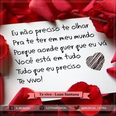 Luan Santana - ♫ Te Vivo ♫