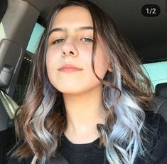 Hair Color Streaks, Hair Highlights, Under Hair Dye, Hair Inspo, Hair Inspiration, Inspo Cheveux, Hair Color Underneath, Aesthetic Hair, Dyed Hair