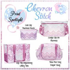 Chevron Stitch Baby product spotlight by print. Graphic for Facebook VIP group. Thirty-One spring/summer 2018 www.mythirtyone.ca/sabrinawhite