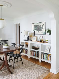 5 Spiritual Clever Ideas: Small Living Room Remodel Floating Shelves living room remodel on a budget simple.Living Room Remodel On A Budget Window Treatments small living room remodel thoughts.Living Room Remodel With Fireplace Ship Lap. Dining Room Storage, Dining Room Walls, Dining Room Design, Storage Ideas Living Room, Shelves In Dining Room, Dining Room Corner, Basement Storage, Living Room Remodel, Home Living Room