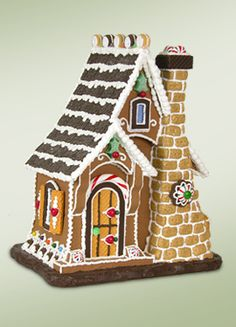 Gingerbread House Christmas Display Resin Byers Choice Sugar Cookie Cottage