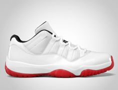 Jordan 11 Low White Black-Varsity Red Buy Nike Shoes e61ef5a93