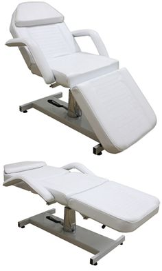 hydraulic facial bed white