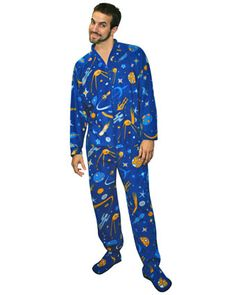 Celestial Space Print Footed Pajamas Sunglasses Online 0a3e6485a