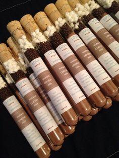 Tube SAMPLE Hot Chocolate Test Tube Wedding by FaithfullyCharmed23: