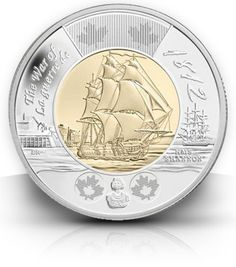 Canada is issuing a 2-dollar coin series commemorating the 100th anniversary of the War of 1812, starting with this depiction of the HMS Shannon.