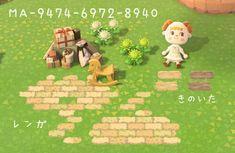 Brick Path, Brick And Stone, Path Design, Island Design, Animal Crossing Qr, Good Ol, New Leaf, Custom Design, Coding