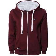 Voi Jeans Lady Buddy Hoody ($32) ❤ liked on Polyvore featuring tops, hoodies, ruby, sweatshirt hoodies, hoodie top, jersey hoodie, burgundy top and red jersey
