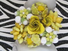 CLEARANCE Yellow Rose GardenCollage by LunasVintageDesigns on Etsy, $60.00