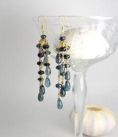 London Blue Topaz Earrings: Bridal by LillyputLaneDesignCo on Etsy