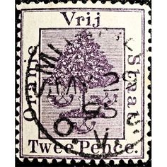 Orange Free State, Tree, Two Pence, ca 1890 used fine