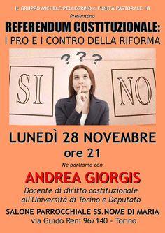 Max Alone - Rockin' in the free world: 28 novembre: incontro con Andrea Giorgis sul refer...