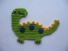 Crochet applique – Dino – crochet applique – a novel product by Spielkiste on DaWanda You're in the suitable place about dinosaur pumpkin adorning concepts. Crochet Dinosaur Patterns, Crochet Octopus, Easy Crochet Patterns, Crochet Patterns Amigurumi, Crochet Designs, Crochet Dinosaur Hat, Crochet Motifs, Crochet Art, Crochet Flowers