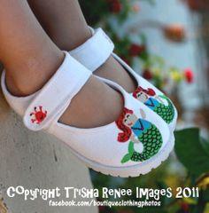 c6aecada80e Hand painted Little Mermaid Maryjane Shoes! Hand painted mermaid mayrjane  shoes for girls (can