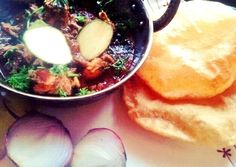 kairi murgh with bidari parantha (chicken in mango curry with deep fried indian bread)