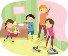 Cleaning together is also a good way to enhance family communication