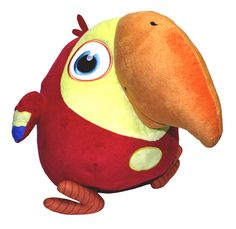 Your favorite silly parrot is now available in plush! Take Larry along on all of your adventures and learn new words together! VocabuLARRY plush toy measures 15'' x 13'' x 9''