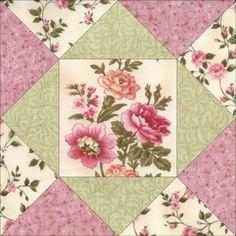 Charlotte Floral Flower Quilt Kit – PRE-CUT Blocks