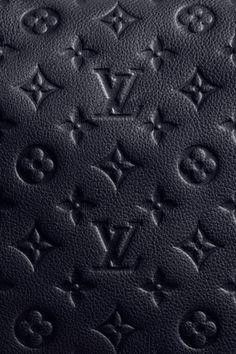 Louis Vuitton Black Leather Monogram Print