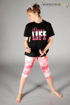 Dance Life  Girls Dance Shirt  Kids Dance Shirt by HopscotchKidzUK
